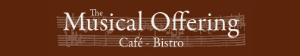 The Musical Offering serves 4 course take out Wednesdays and  Fridays.